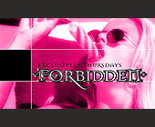 Forbidden Exclusively Thursdays at The Zei Club - Washington Graphic Designs