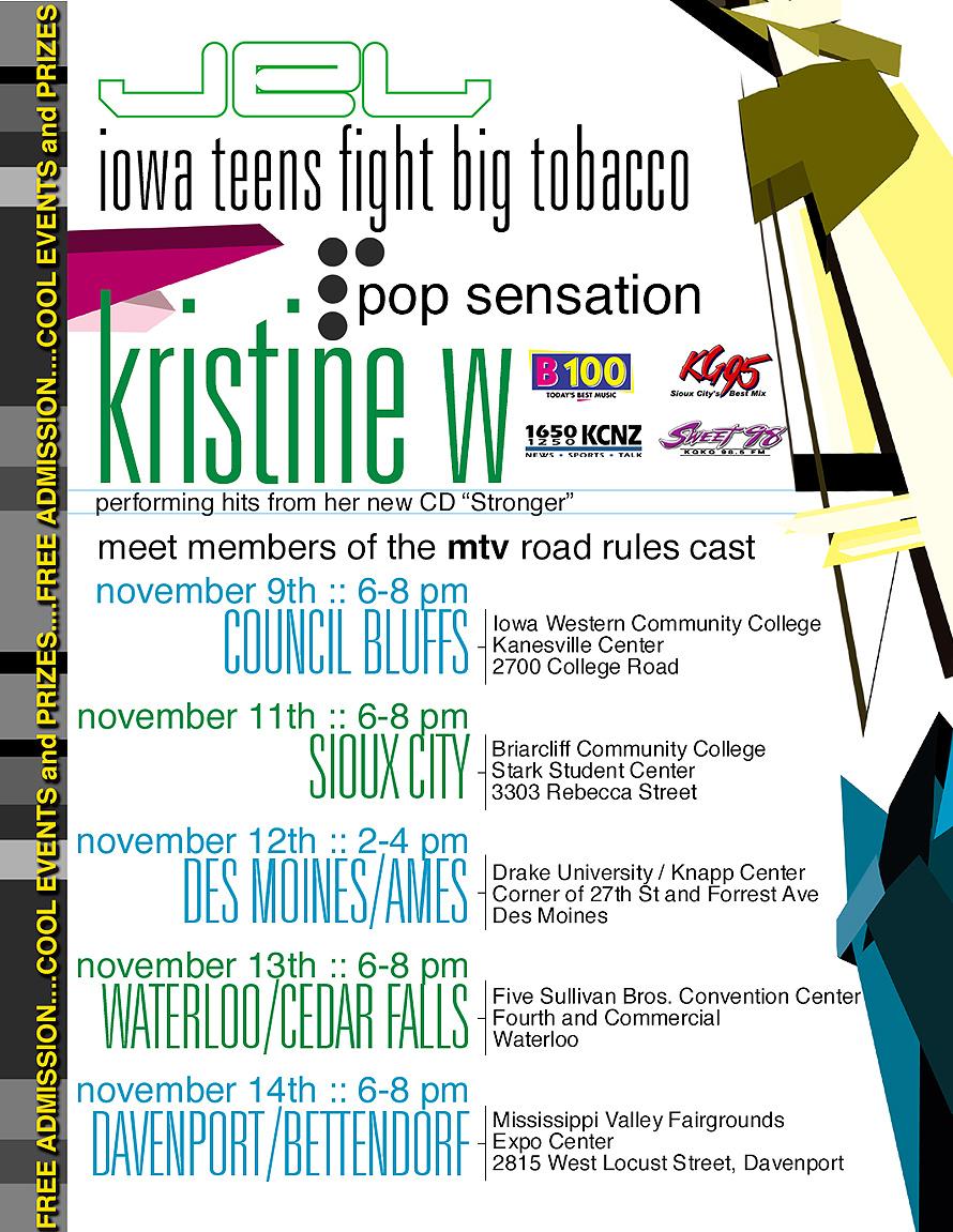 Iowa Teens Fight Big Tobacco Performance by Kristine W