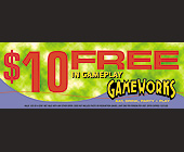 Gameworks $10 Free of Gameplay - tagged with gameworks logo