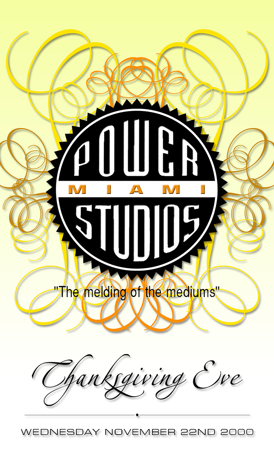 Thanksgiving Eve at Power Studios Miami