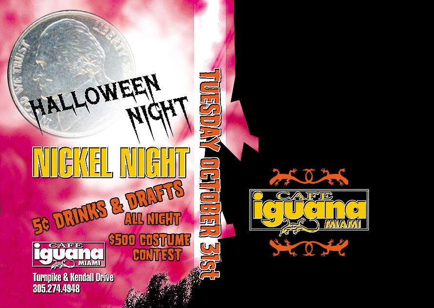 Halloween Nickel Night at Cafe Iguana
