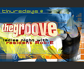 Thursdays at The Groove - tagged with info line