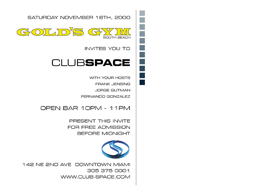 Gold's Gym Invites You to Club Space