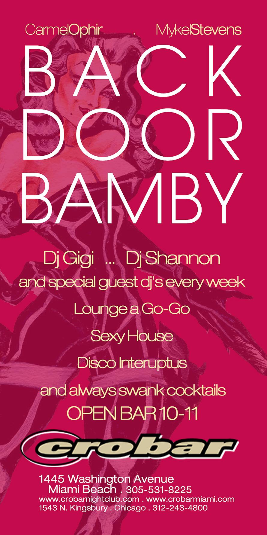 Back Door Bamby Mondays at Crobar