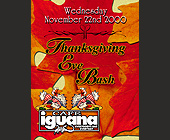 Thanksgiving Eve Bash at Cafe Iguana Miami - tagged with cartoon turkey