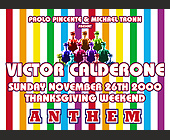 Anthem with Victor Calderone at Crobar - Gay and Lesbian Graphic Designs