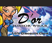 D'or Junior Wear - tagged with this card entitles you to