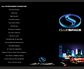Club Space Entertainment Promo - 2125x2750 graphic design