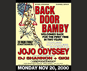 Back Door Bamby Mondays at Crobar - 2261x2926 graphic design