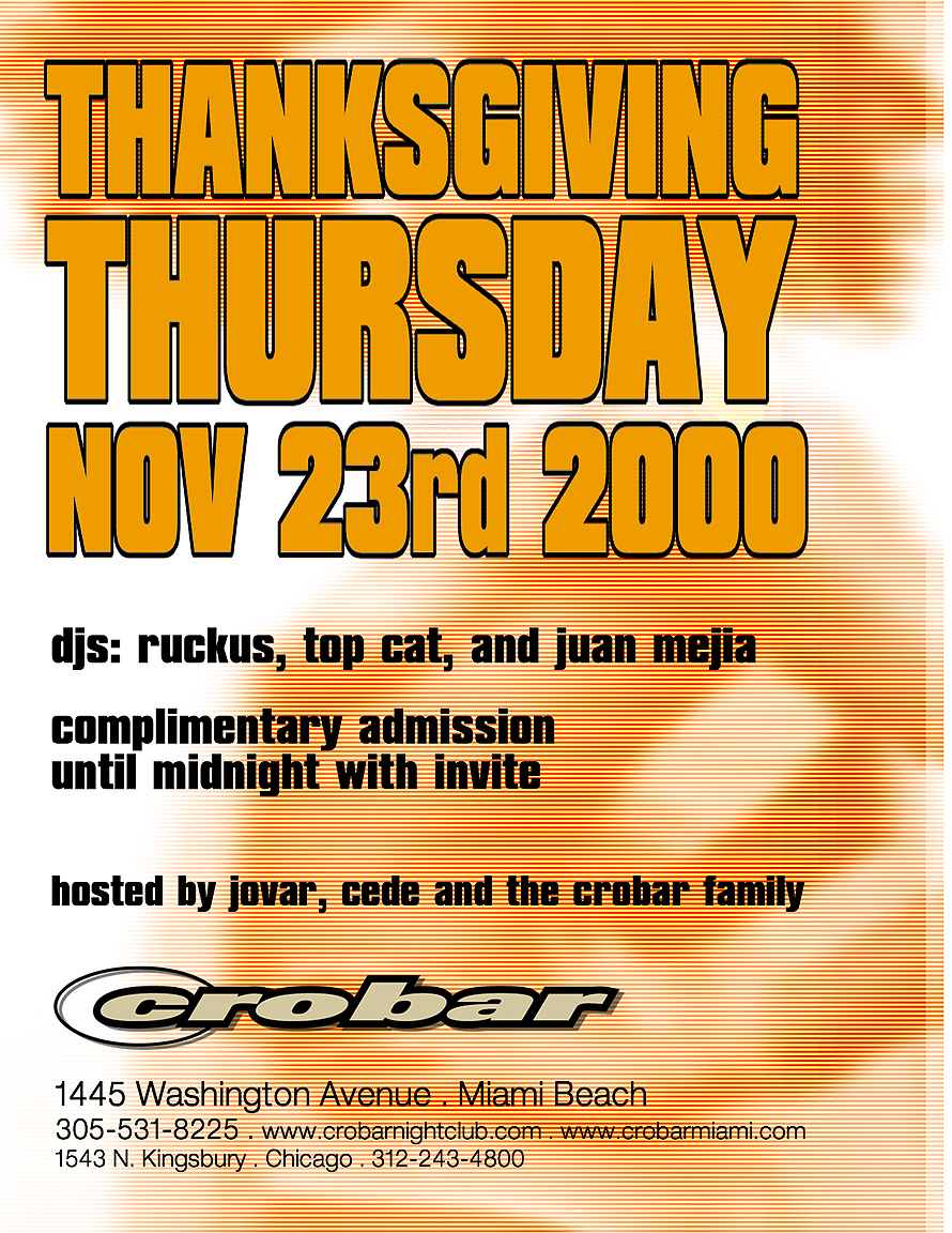 Thanksgiving Thursday at Crobar