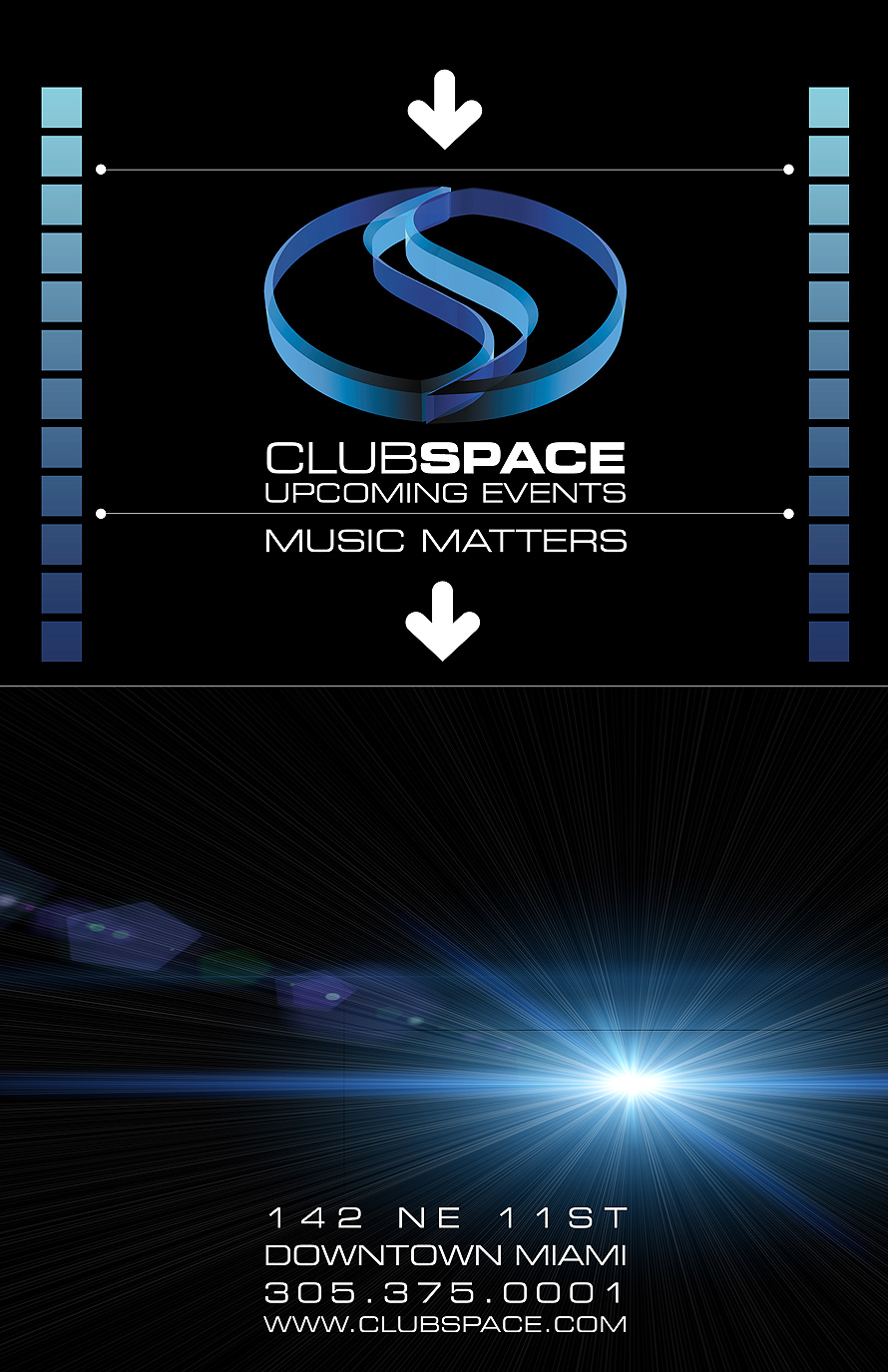 Club Space Upcoming Events Schedule November