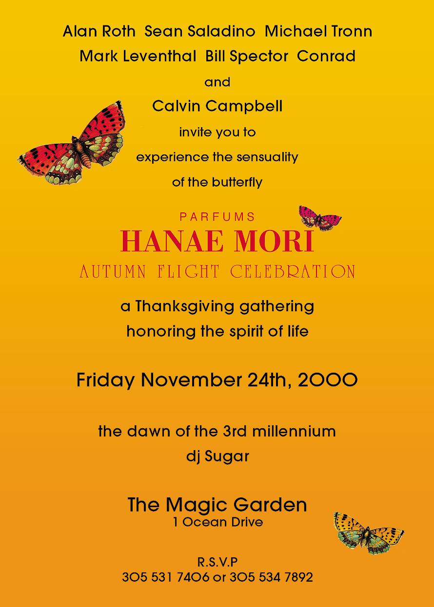 Hanae Mori Autumn Flight Celebration at The Magic Garden