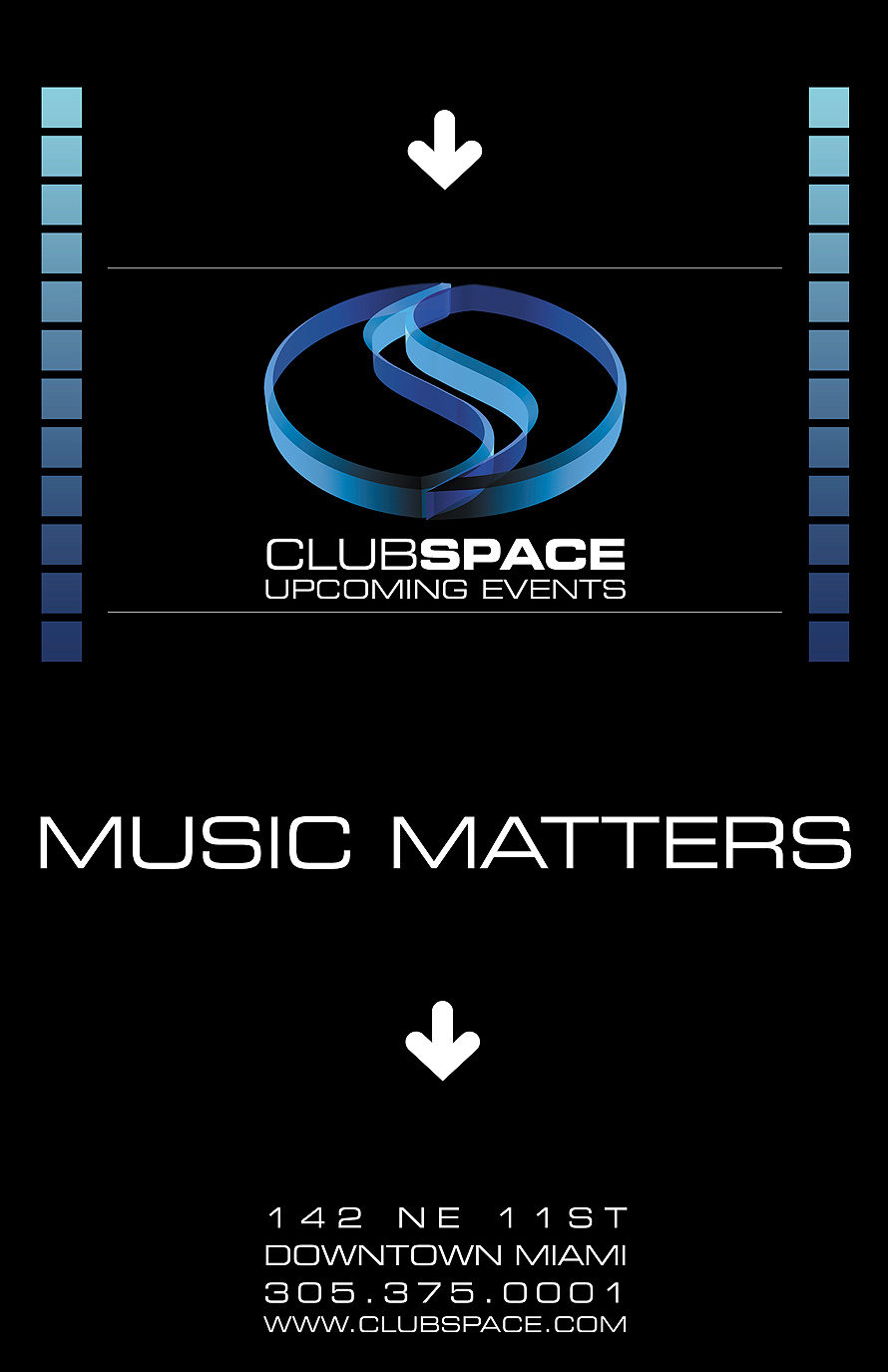 Club Space Upcoming Event Schedule