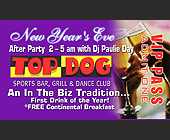 Top Dog New Year's Eve VIP Pass - tagged with Drop Shadow