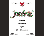 Christmas Blowout at Sutra Nightclub - Sutra Nightclub Graphic Designs