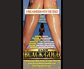 Black Gold Free Admission Ticket - Black Gold Adult Club Graphic Designs