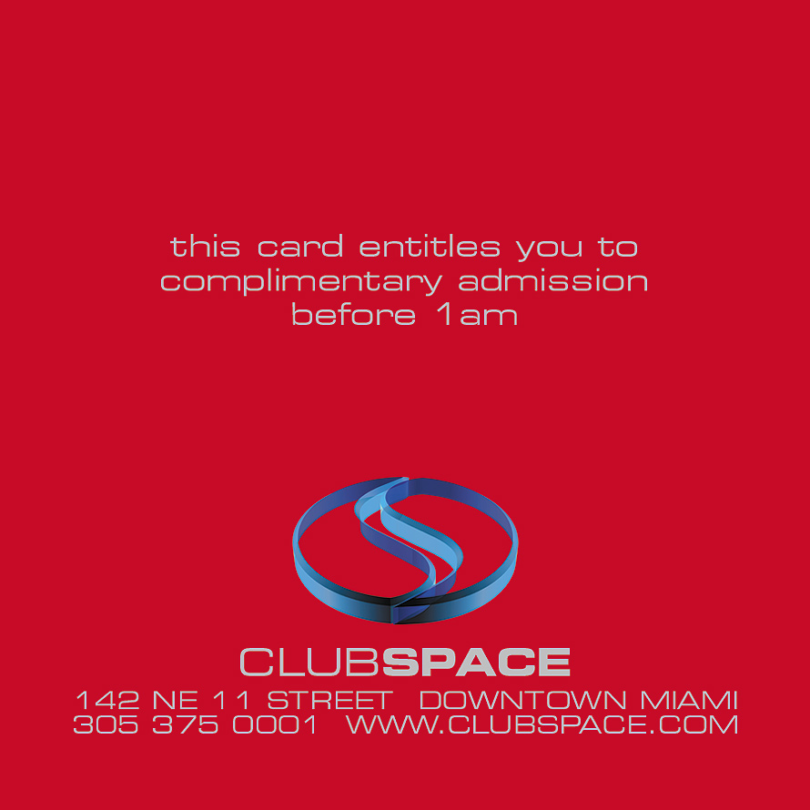 The Red Lounge at Club Space Complementary Admission