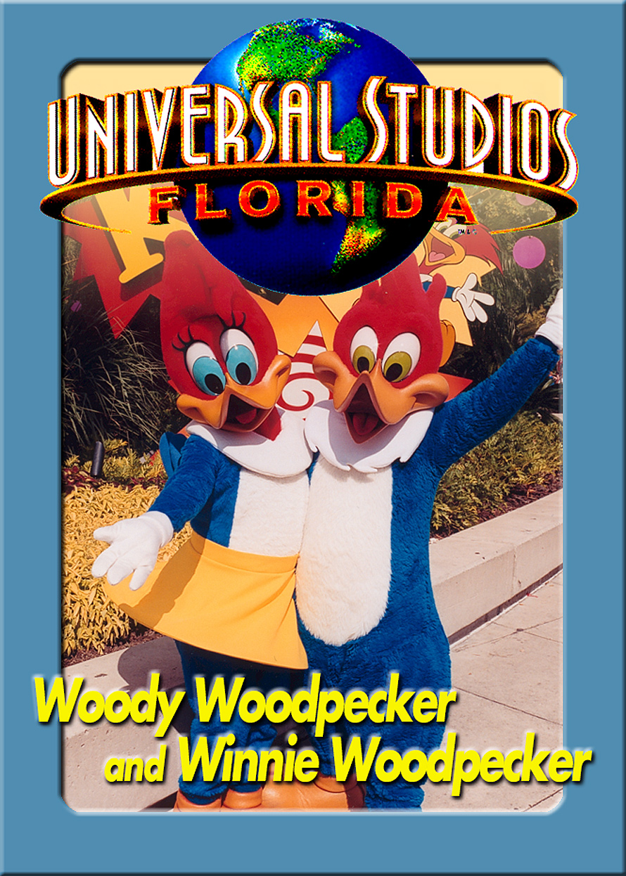 Universal Studios Trading Cards Woody and Winnie Woodpecker