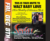 Walt Baby Love Birthday Bash at Sunset Place - tagged with doors open at 11pm