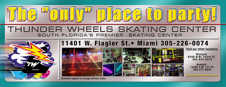 Thunder Wheels Weekly Schedule Miami
