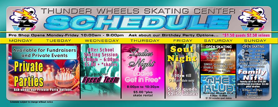 Thunder Wheels Hialeah Weekly Schedule