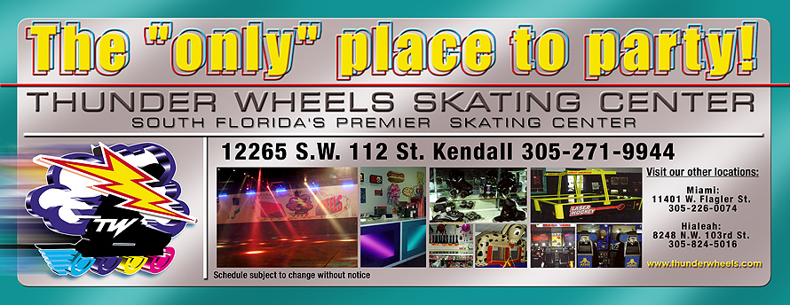 Thunder Wheels Skating Center Weekly Schedule