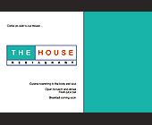 The House Restaurant - The House Restaurant Graphic Designs