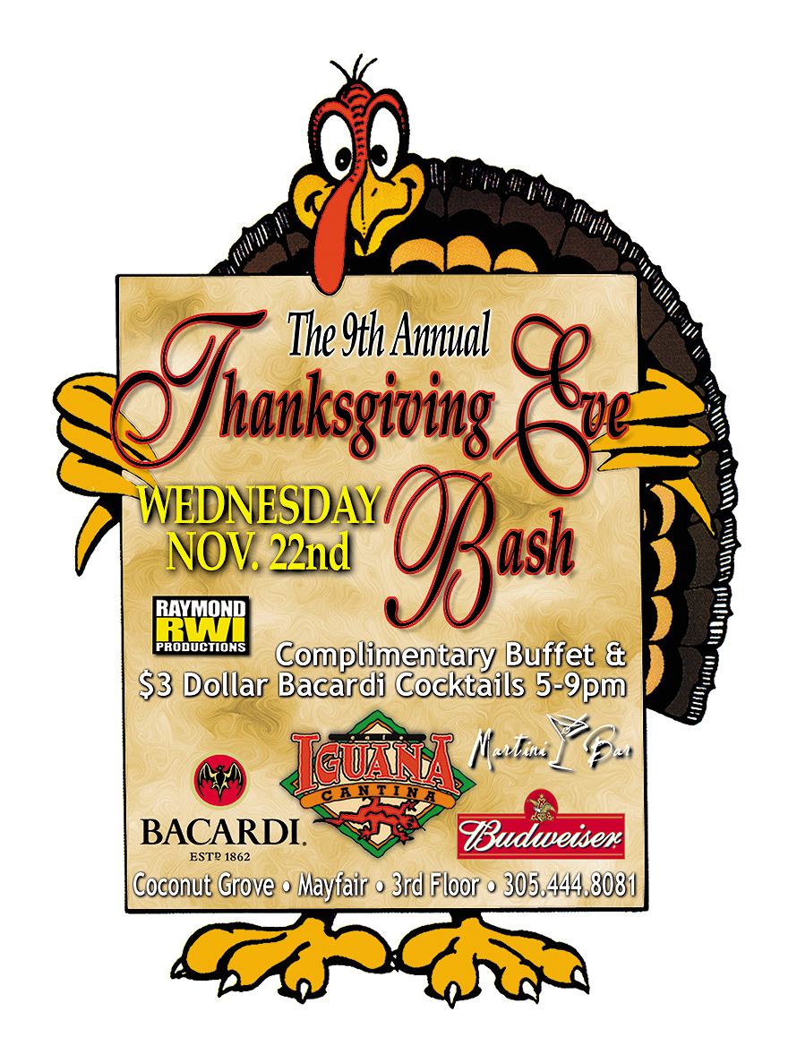 Thanksgiving Bash at Martini Bar in Coconut Grove