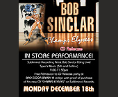 Bob Sinclar CD Release - Nightclub