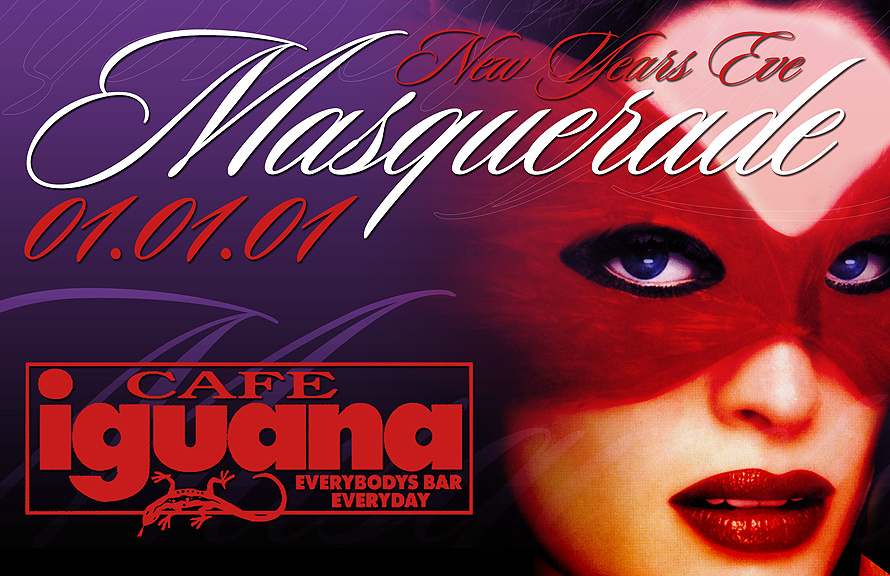 New Years Eve Masquerade at Cafe Iguana Miami