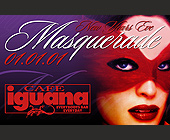 New Years Eve Masquerade at Cafe Iguana Miami - 1375x2125 graphic design