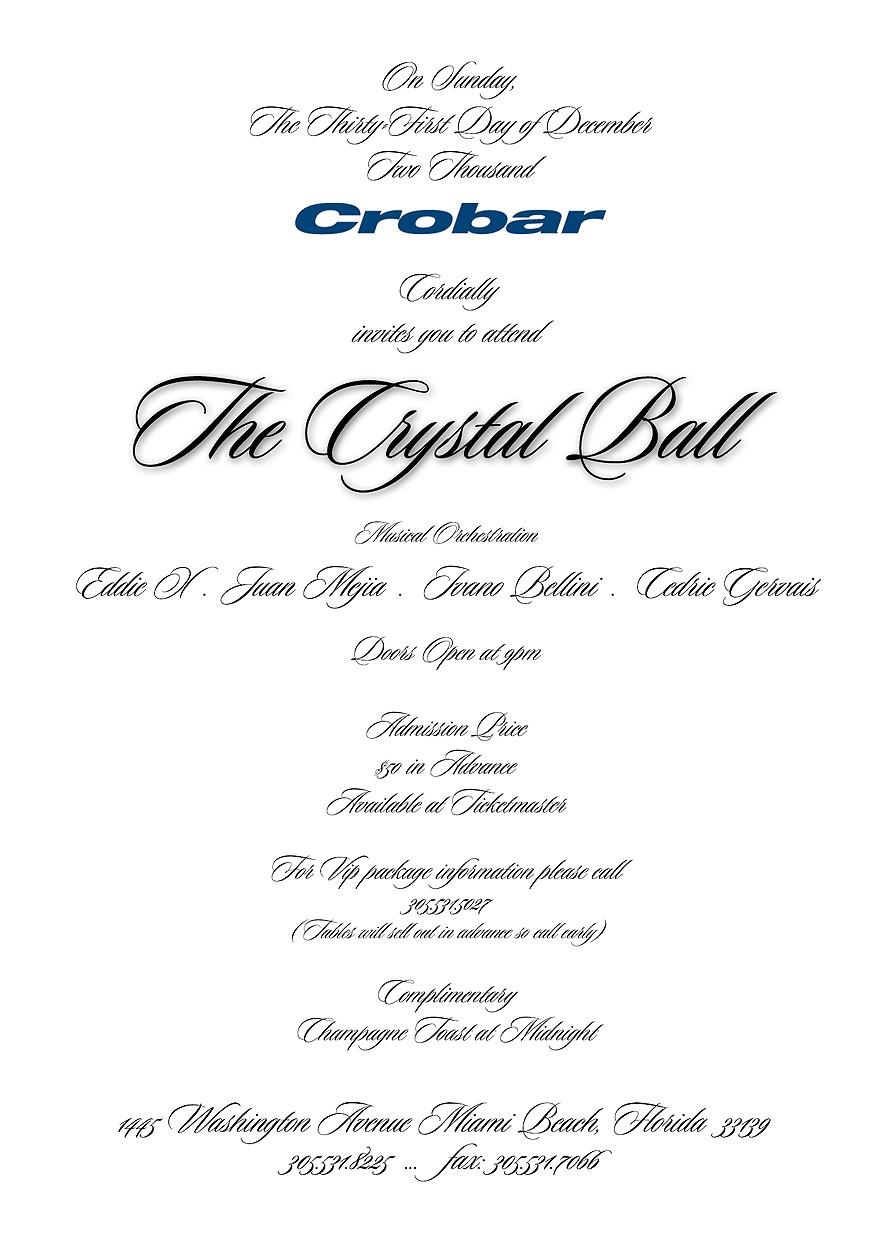The Crystal Ball New Year's Eve at Crobar