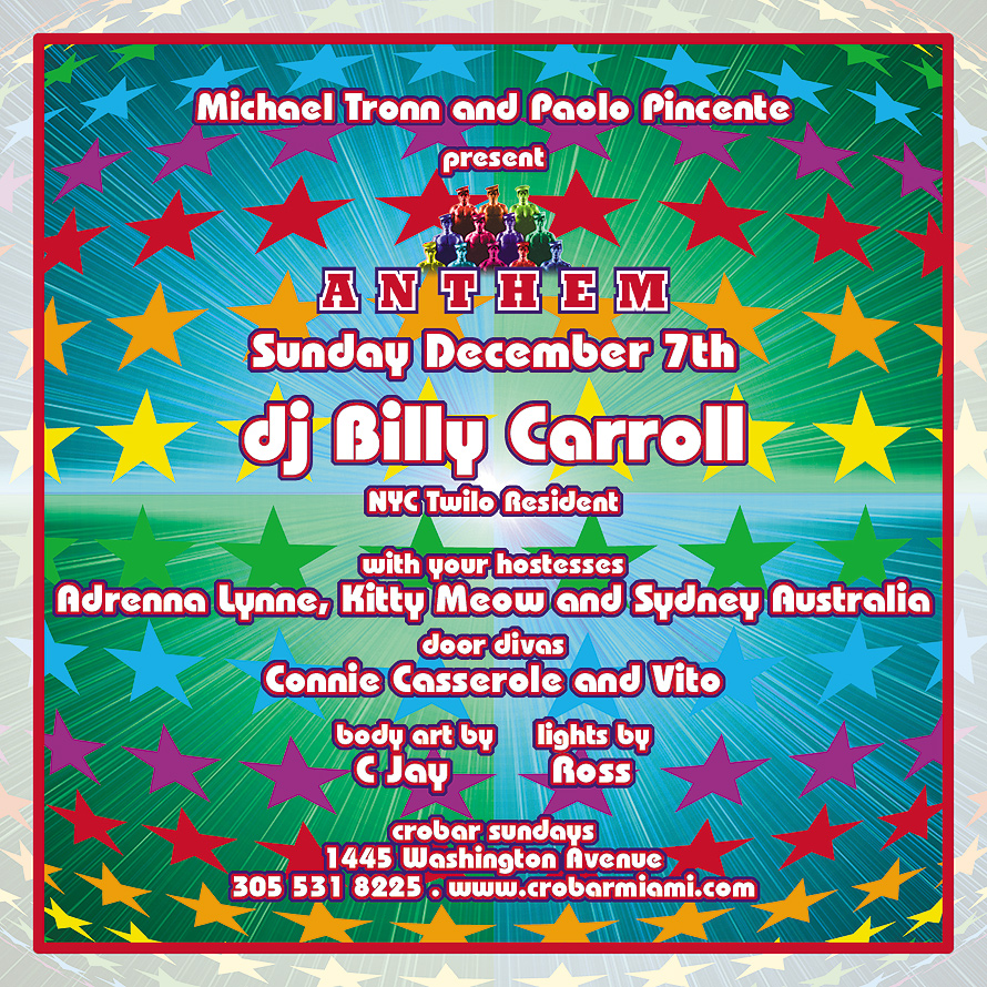Anthem DJ Billy Carroll at Crobar