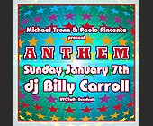 Anthem DJ Billy Carroll at Crobar - 1375x1375 graphic design