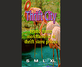 Thrift City Clothing Tag - tagged with we will gladly exchange or