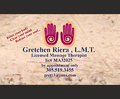 Gretchen Riera Massage Therapist - created December 04, 2000