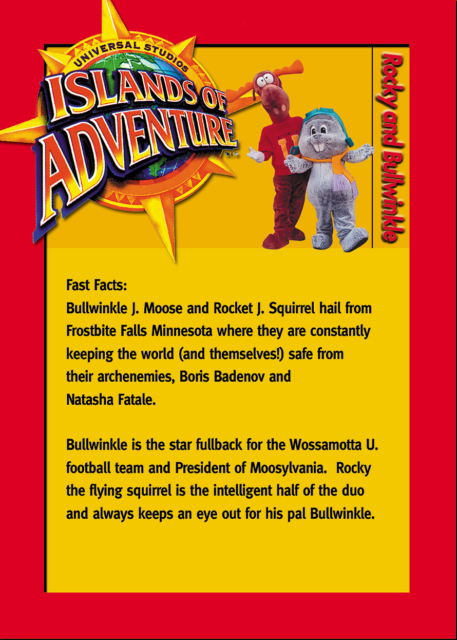 Rocky and Bullwinkle Biography Card