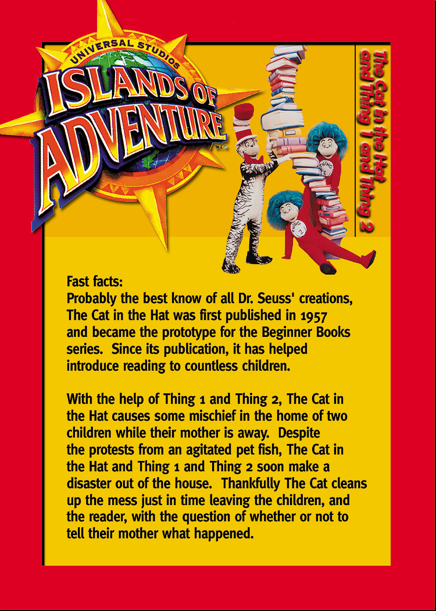 Universal Studios Trading Cards The Cat in the Hat