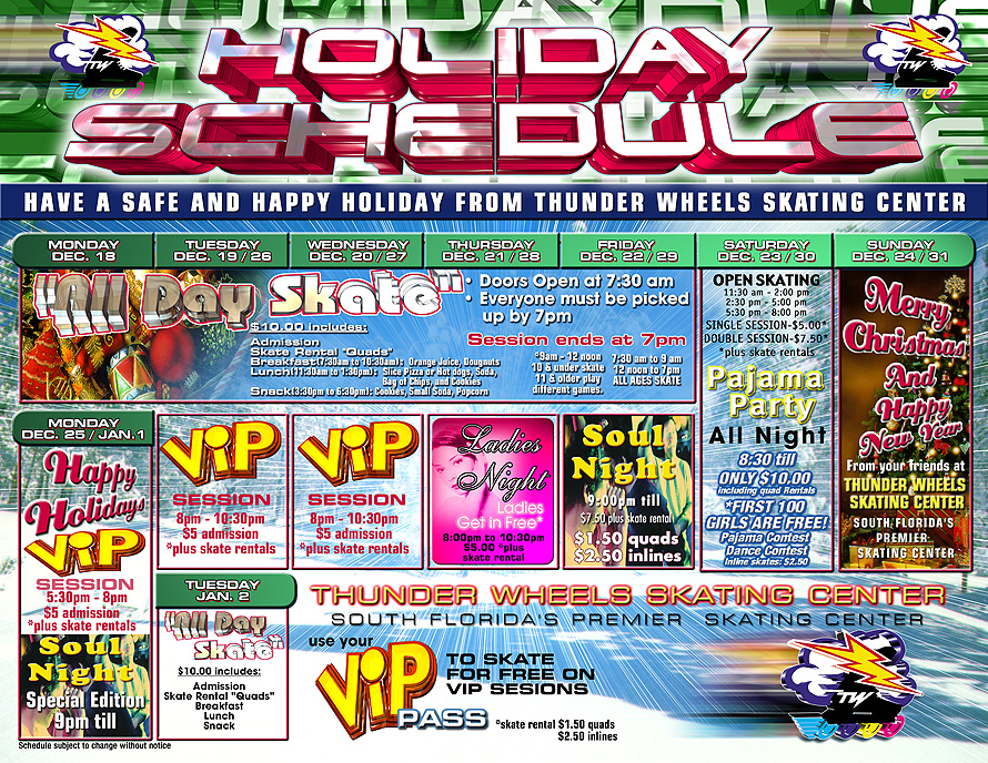 Thunder Wheels Holiday Guide