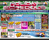 Thunder Wheels Holiday Guide - tagged with schedule subject to change without notice