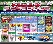 Thunder Wheels Holiday Schedule - Skating Graphic Designs