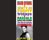 Rascals Comedy Club - tagged with grand opening
