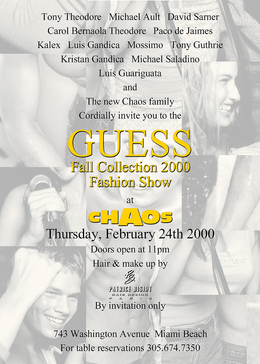 Guess Fall Collection at Chaos