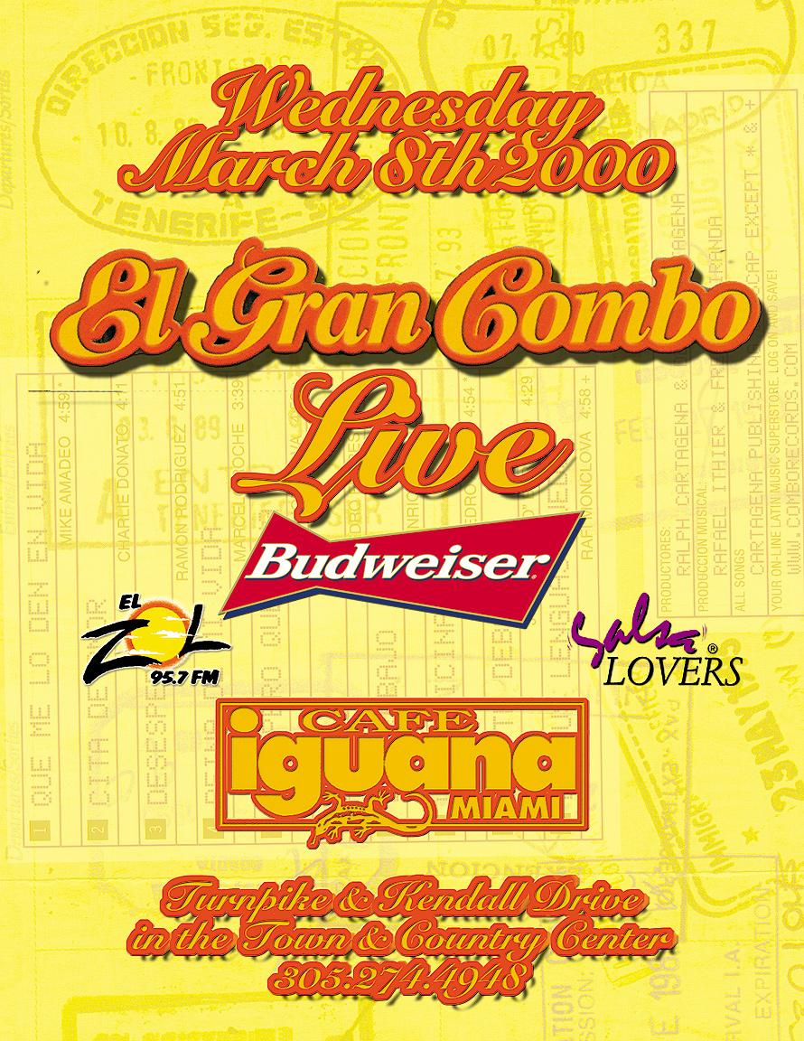 El Gran Combo Live at Cafe Iguana Miami