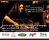 Shakira Concert at Gameworks - created February 23, 2000