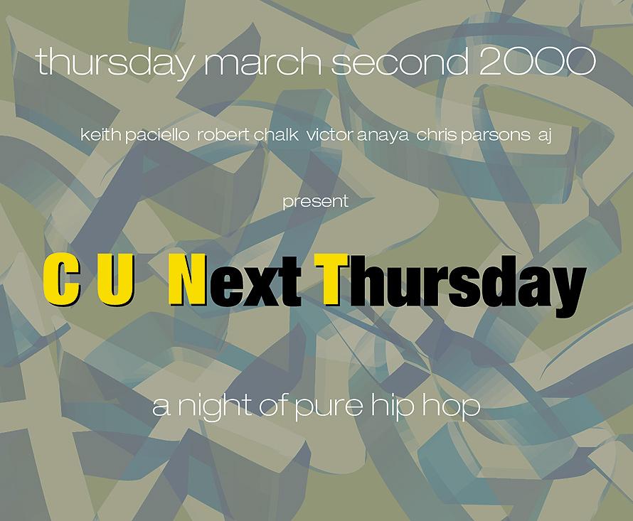 C U Next Thursday A Pure Night of Hip Hop