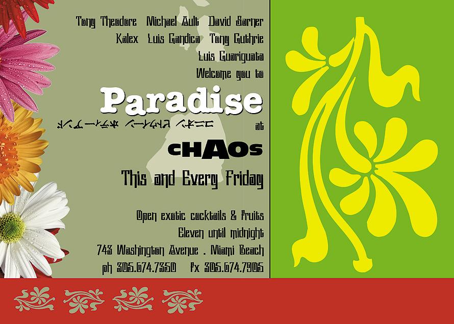 Friday Paradise at Chaos