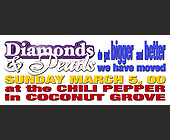 Diamonds and Pearls at The Chili Pepper in Coconut Grove - tagged with sunday march 5
