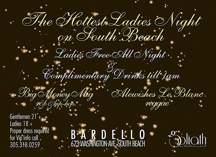 Ladies Night Mowet Fridays at Bardello
