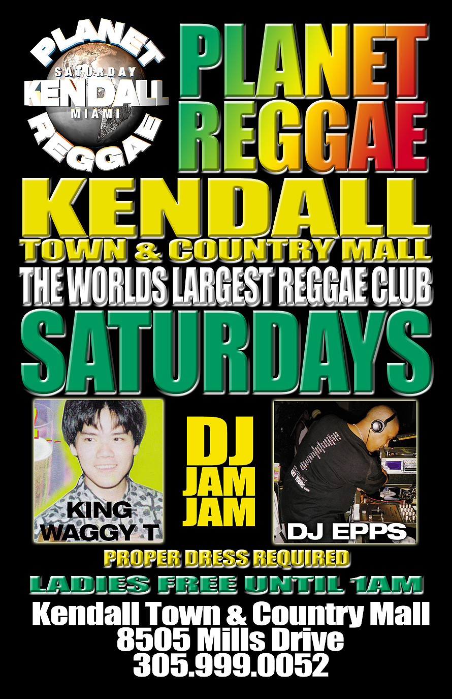 Planet Reggae Saturdays at Rascals in Kendall